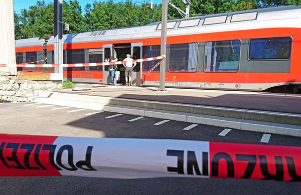 Swiss man attacks, sets fire to train