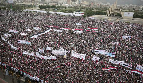Thousands in Yemen march in support of rebels