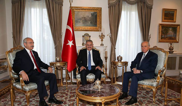 Turkey's PM meets opposition party leaders of CHP, MHP