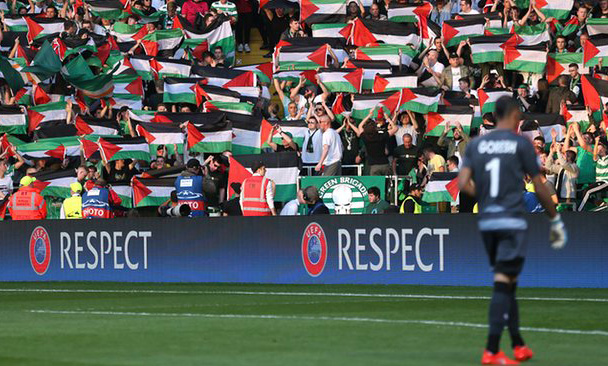 Celtic fans raise more than £50000 for Palestinian charities