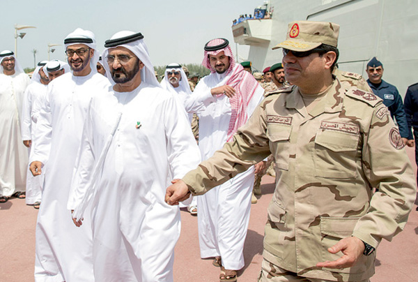Friends with money...UAE gives Sisi $1bn