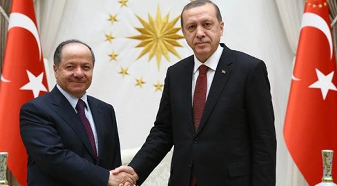 Erdogan meets Iraqi Kurdish region's leader Barzani
