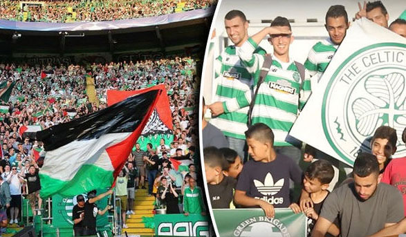 Palestinian refugees record thank you video for Celtic