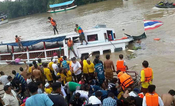 Death toll from Thai tourist boat sinking rises to 15