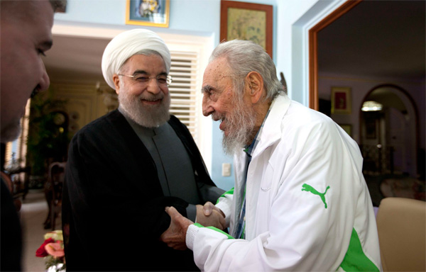 Iran's Rouhani salutes 'relentless warrior' Castro
