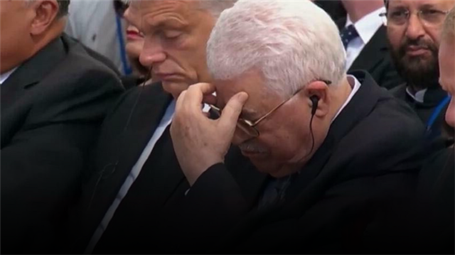 Abbas cries over Peres instead of killed Palestinians