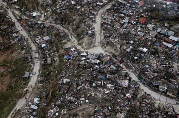 CARE: 'Complete destruction' in southern Haiti city