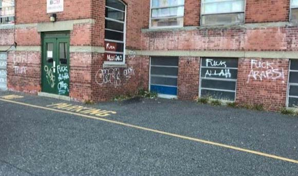 NJ Muslim center defaced with 'Donald Trump,' racist graffiti