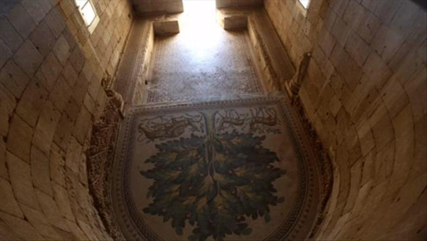 Region's largest ancient mosaic unveiled in West Bank