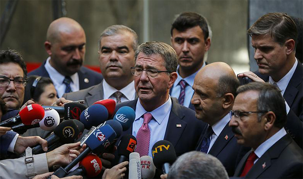 US defense secretary stresses alliance with Turkey