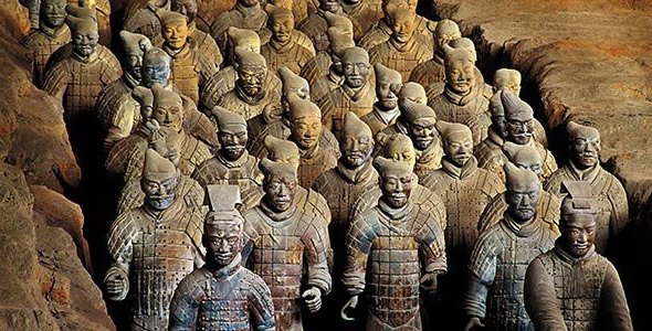 'Foreign forces' row over China's Terracotta Warriors