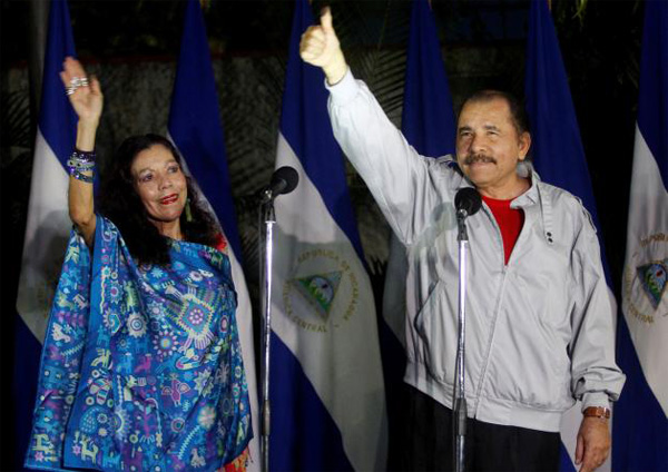 Nicaragua's leader, wife appear headed to win election
