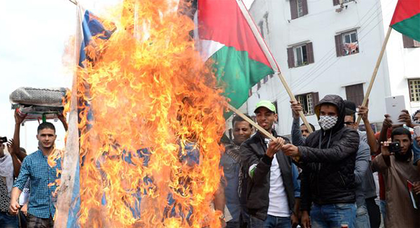 Moroccans protest Israeli flag at UN climate talks