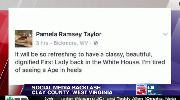 'Ape in heels': racist rant against Michelle Obama