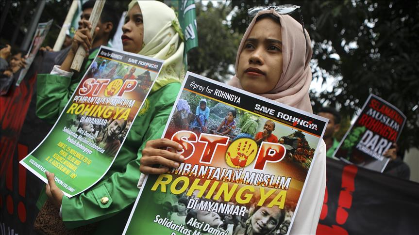 Policing stepped up for pro-Rohingya protest in Indonesia