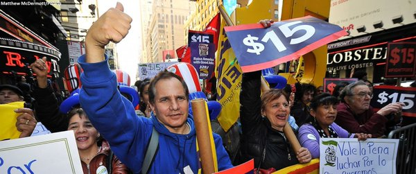 26 arrested in NYC in $15 minimum wage protests