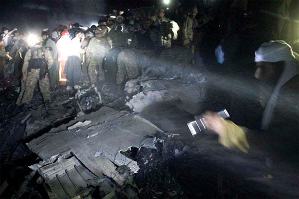 Remains of Pakistan crash to be identified by DNA