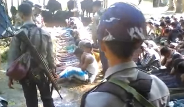 Myanmar detains police over Rohingya abuse video