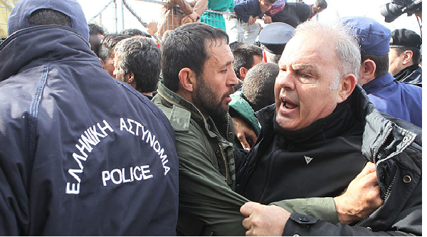 Refugees protest camp conditions in Greece