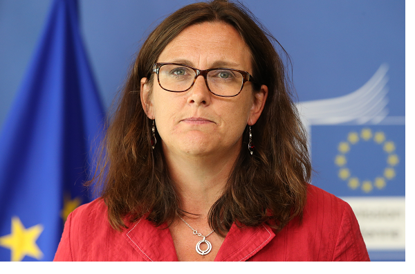 Three questions with EU's trade commissioner