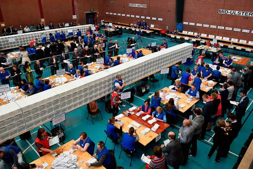 Turnout up in fractious Northern Ireland election