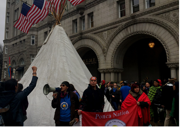 Native Americans march on White House for rights