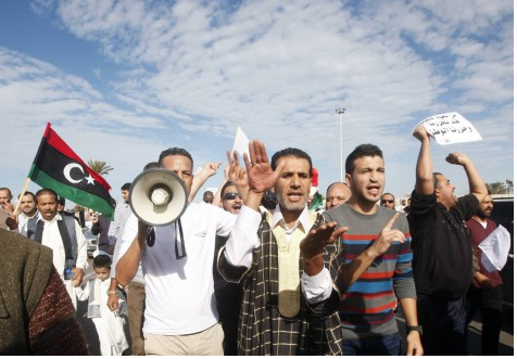 Libyans mark 7 years since protests that ousted Kaddafi