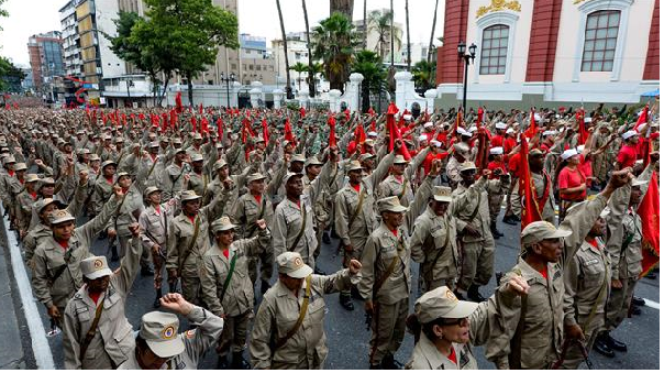 Army declares loyalty to Maduro ahead of rally