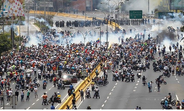 Over 60 students detained in Venezuela protest