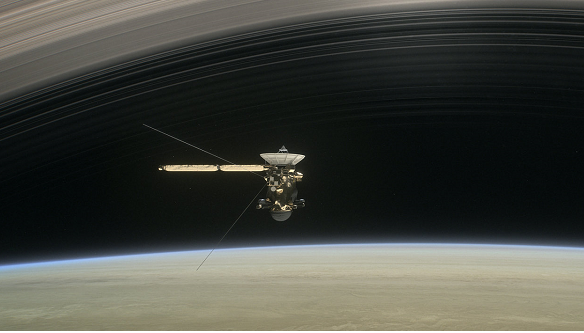 NASA's Cassini poised to plunge beneath Saturn's rings