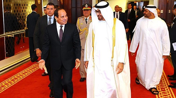 Al-Sisi, Abu Dhabi's Bin Zayed discuss regional crises
