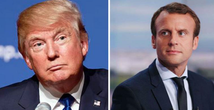 Trump meets Macron, says whole world talking about win