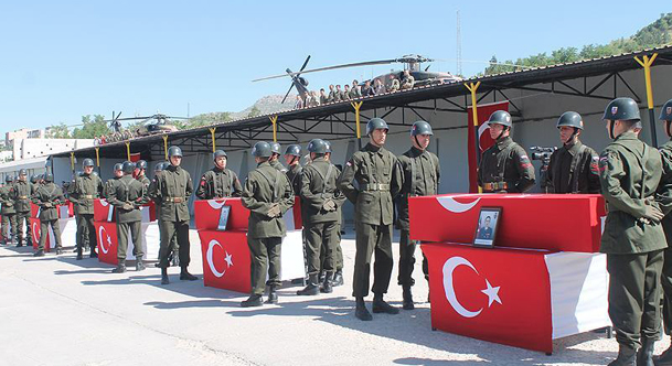 Ceremony for Turkish soldiers martyred in air crash