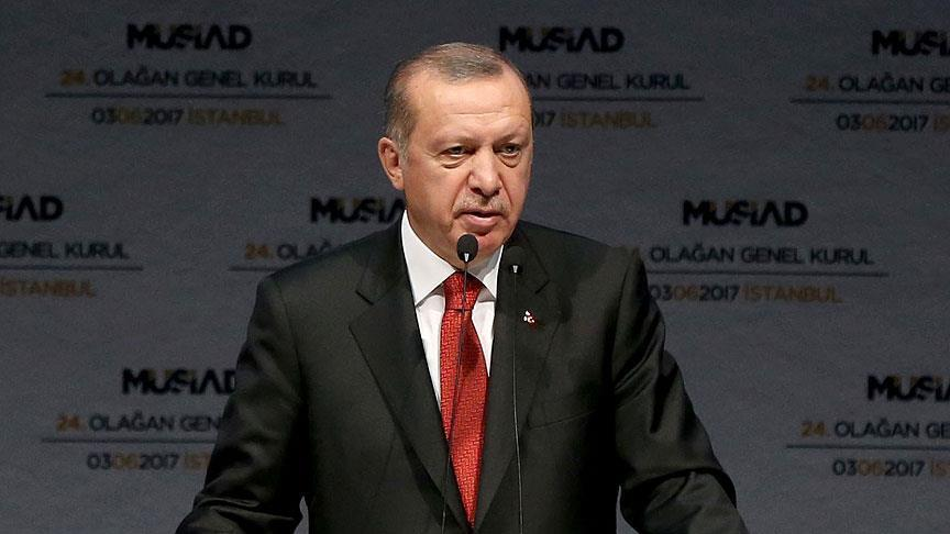 Erdogan urges Turkish investors to play productive role