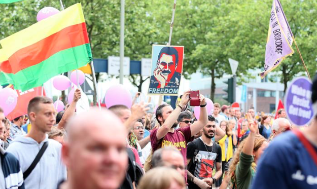 PKK supporters rally in Hamburg