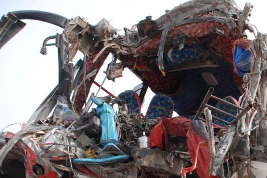 At least 10 killed as bus, truck collide in Indonesia