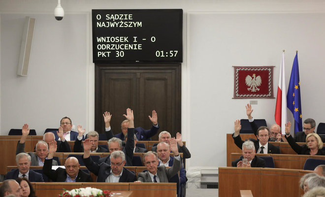 Poland's senate approves controversial court reform