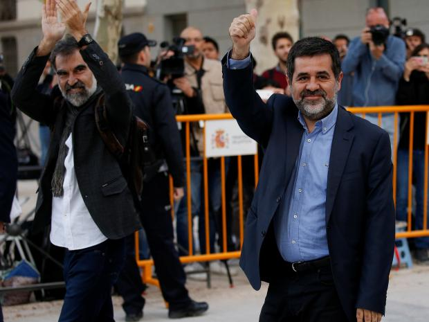 Catalan independence leaders jailed on sedition charges