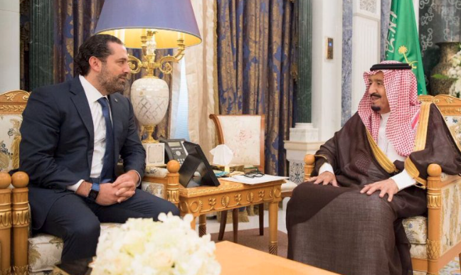 Saudi king meets resigned Lebanese PM