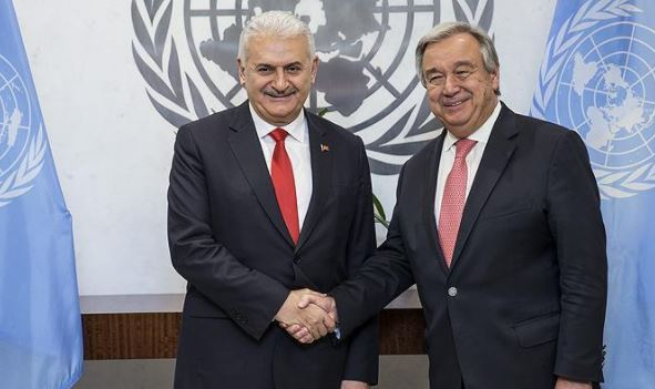 Yildirim meets head of UN in New York during US trip