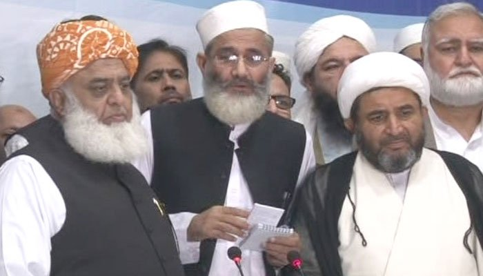Religious parties in Pakistan to revive MMA alliance