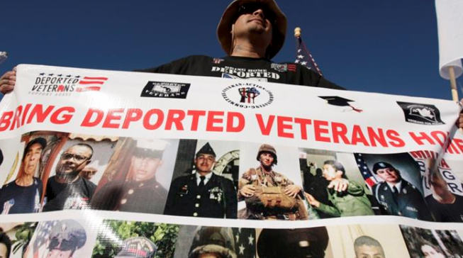 Deported veterans protest in Mexico on US Veterans Day