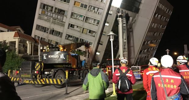 2 killed, more than 100 others injured in Taiwan quake