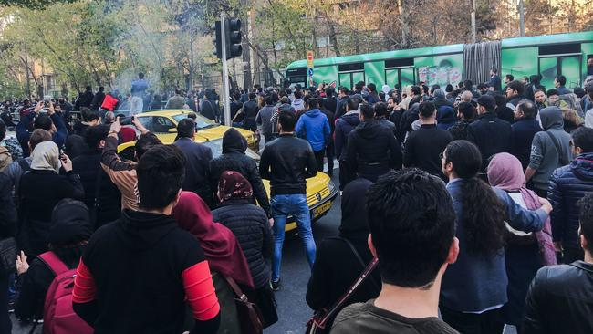 Police in Tehran disperse women's rights demonstration