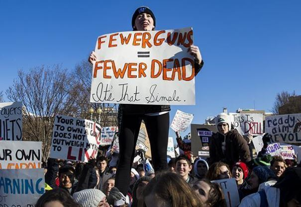 US students rally nationwide against gun violence
