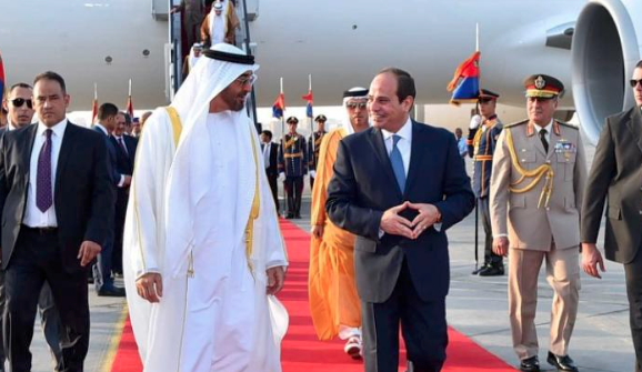 Egypt's Sisi receives Abu Dhabi crown prince in Cairo