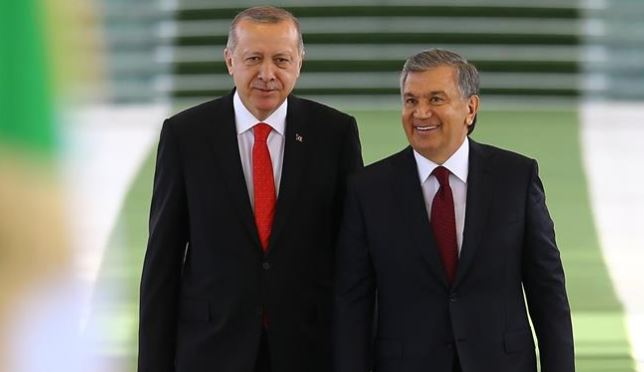 President Erdogan gets warm welcome in Uzbekistan