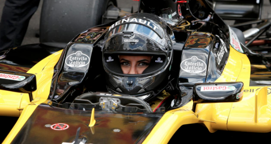 F1 car driven from Saudi woman to mark end of ban