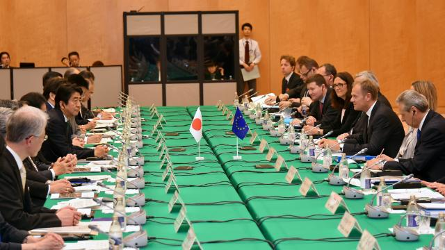 EU-Japan summit moved to Tokyo