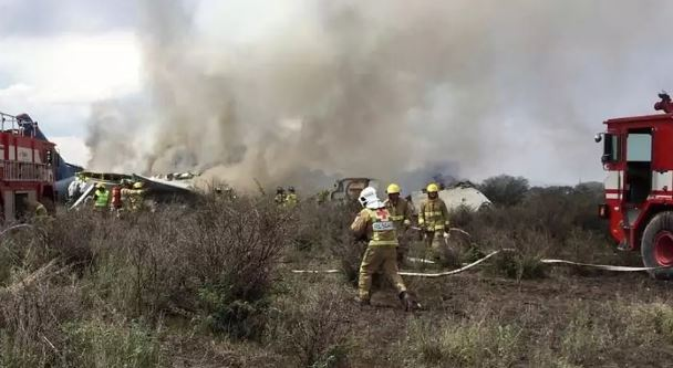 Aeromexico plane crashes in Durango state